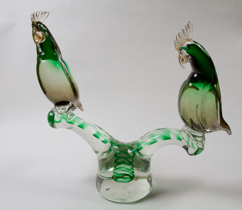 Murano Glass Parrot Sculpture For Sale 1