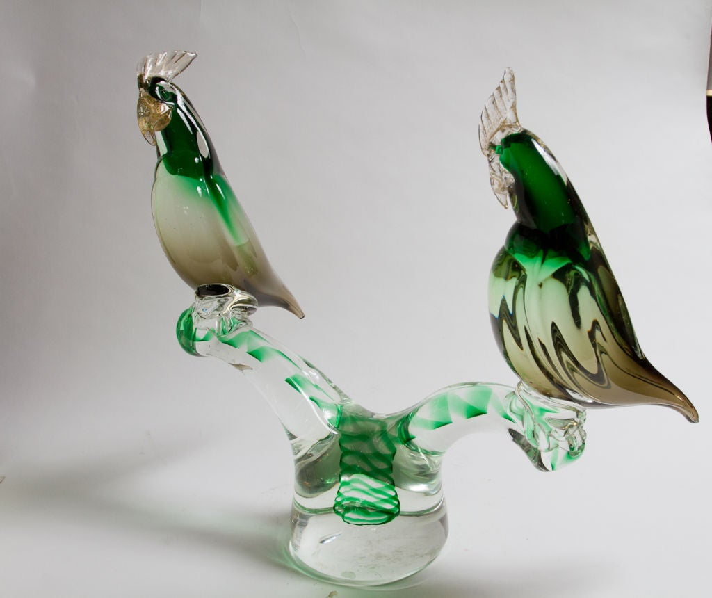Murano Glass Parrot Sculpture For Sale 3