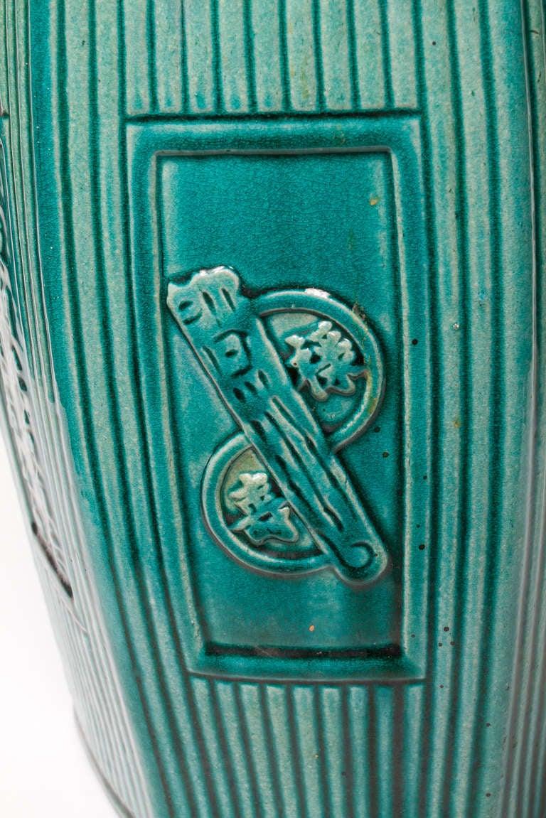 Emerald Green Glazed Chinese Garden Stool At 1stdibs