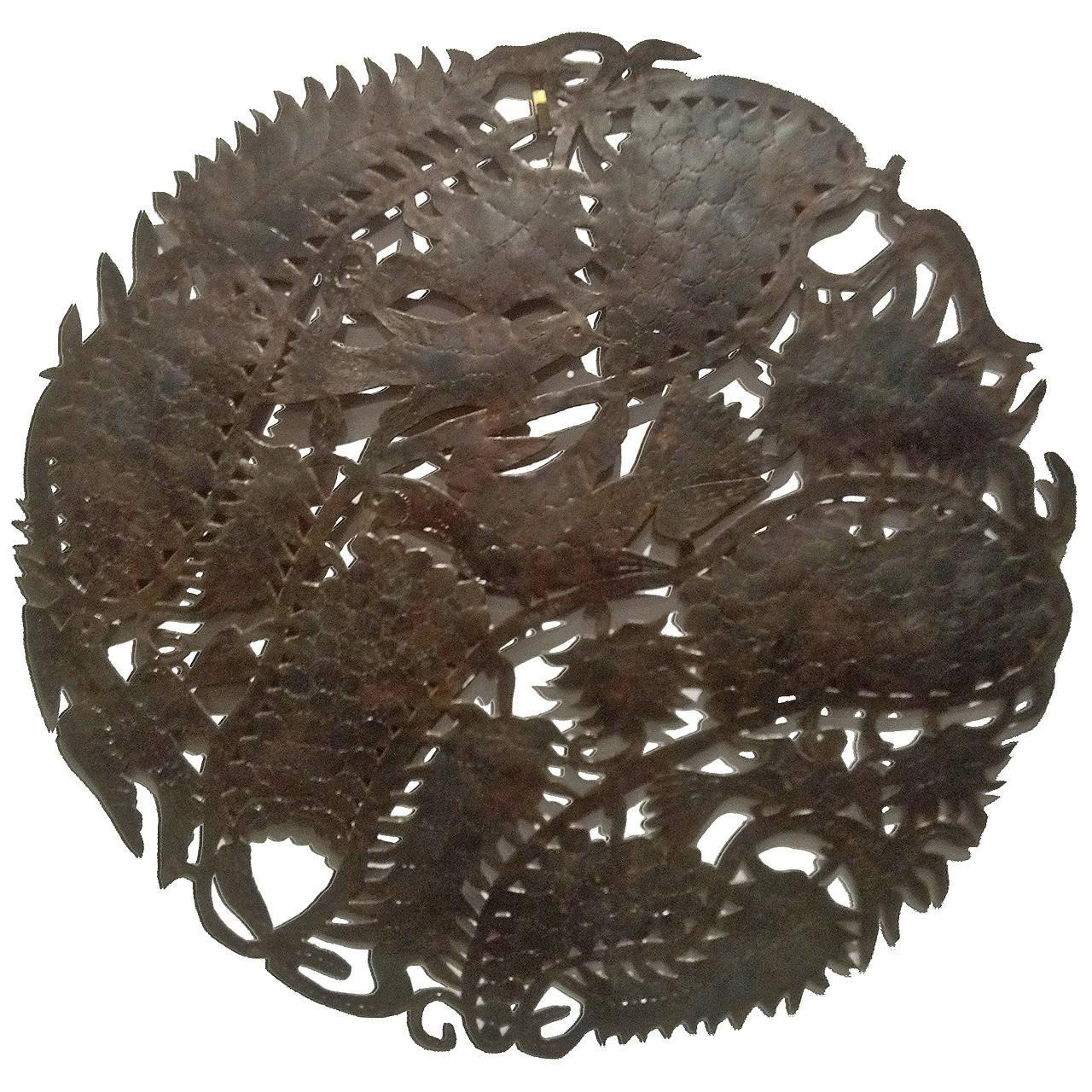 Haitian Metal Wall Sculpture