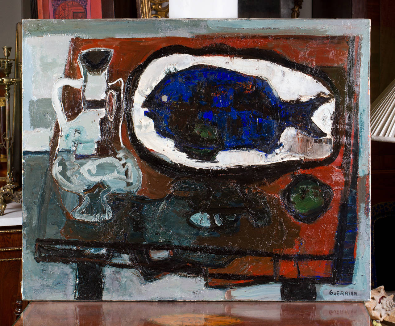 Intriguing still life oil on canvas