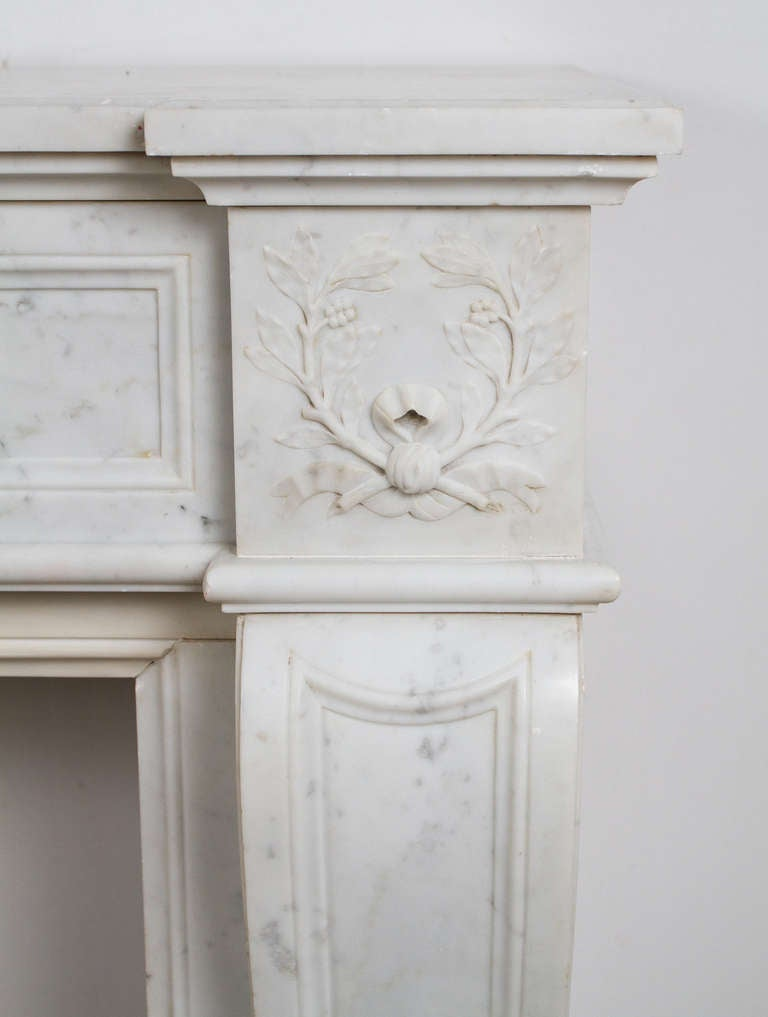 French Louis XVI Marble Mantle For Sale