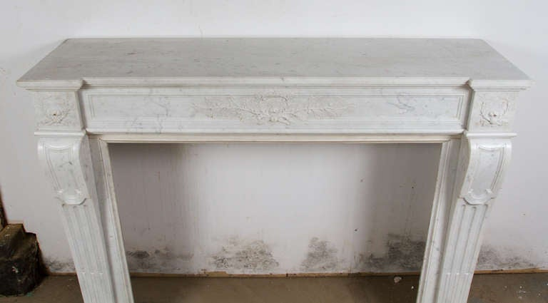 Louis XVI Marble Mantle For Sale 2