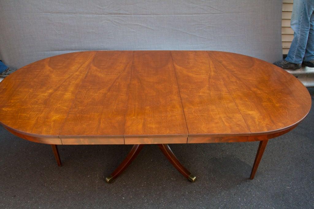 American Regency Style Mahogany Circular Table For Sale