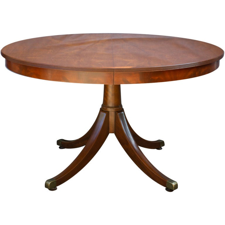 Regency Style Mahogany Circular Table At 1stdibs
