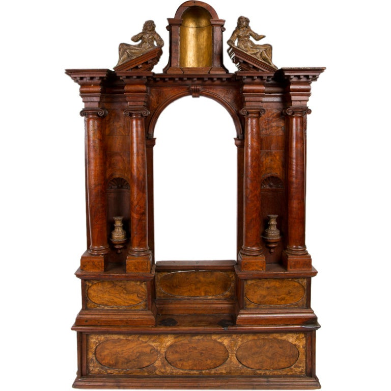17th century italian walnut altar piece at 1stdibs for Altar wall decoration