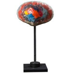 """Mushroom Cloud"" Resin Sculpture by Yeffe Kimball"