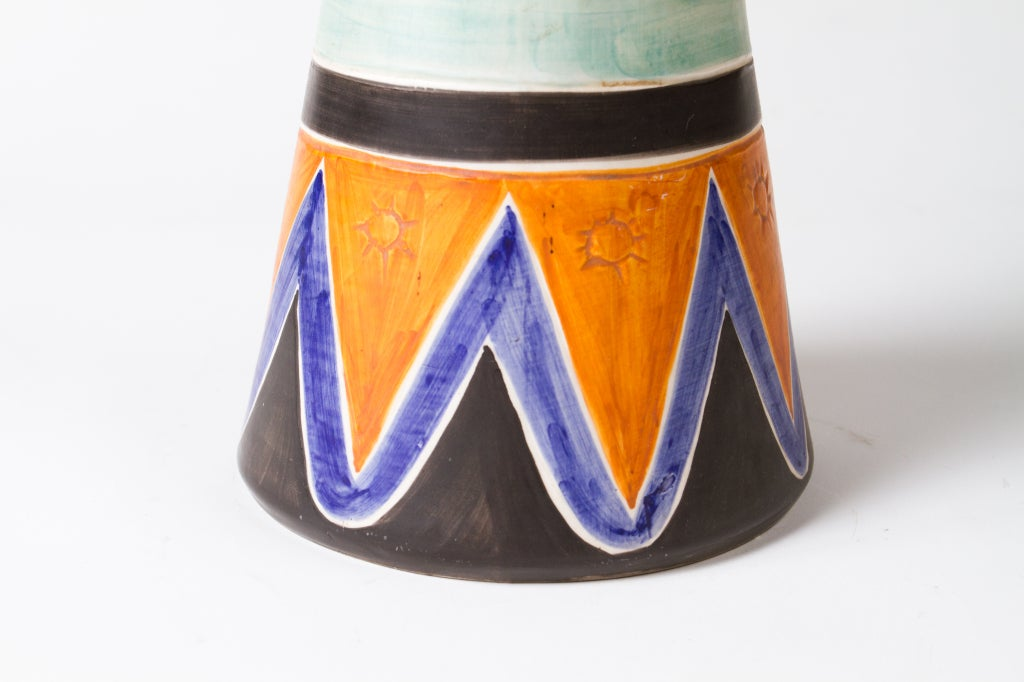 Italian 1950's Ceramic Vase For Sale 2