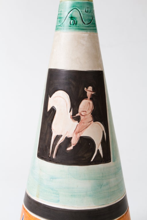 Italian 1950's Ceramic Vase For Sale 4
