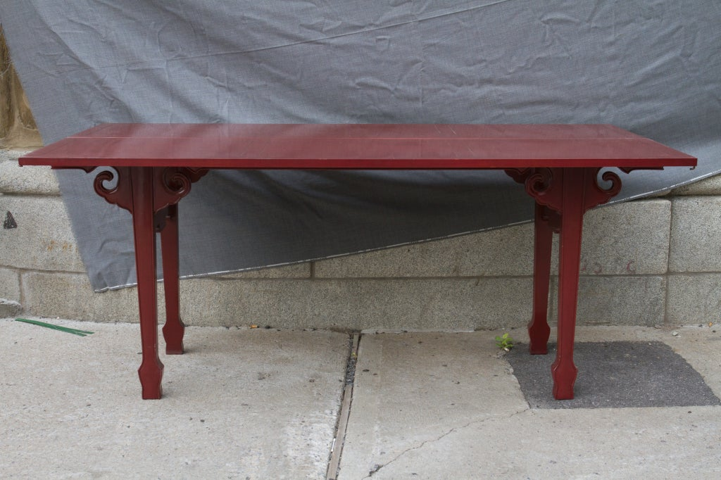 Cinnabar red asian modern side table for sale at 1stdibs for Red side table