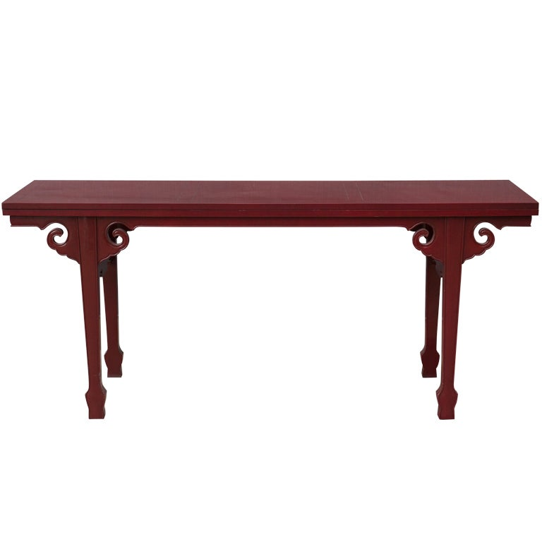 Cinnabar red asian modern side table at 1stdibs for Red side table