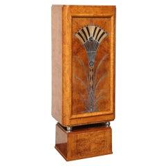 Unusual Burled Elm Art Deco Cabinet