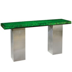 Resin Top Console by Marie-Claude Fouquieres