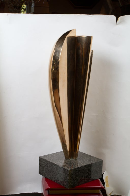 Abstract Bronze Sculpture By Kieff For Sale At 1stdibs