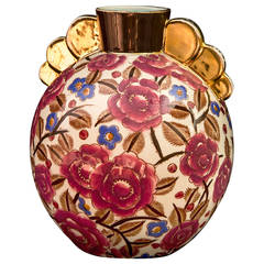 Art Deco Boch Freres Pottery Vase, Belgium, circa 1920 La Louviere, Belgium