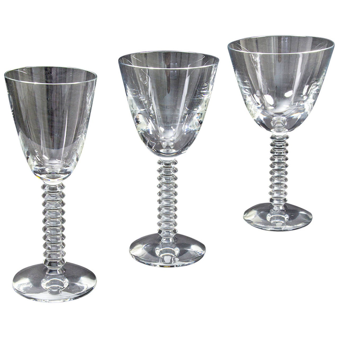 36 baccarat crystal glasses in lalande pattern at 1stdibs