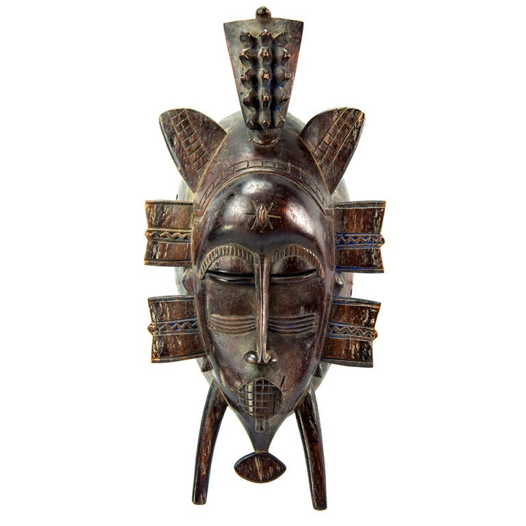 Antique African Ivory Coast Senufo Tribal Mask At 1stdibs