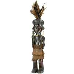 Amtique African Congo Chokwe Doll