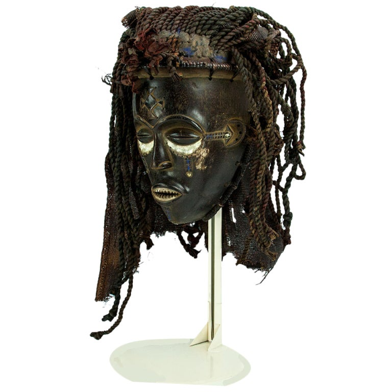 Amtique African Congo Chokwe Tribal Mask At 1stdibs