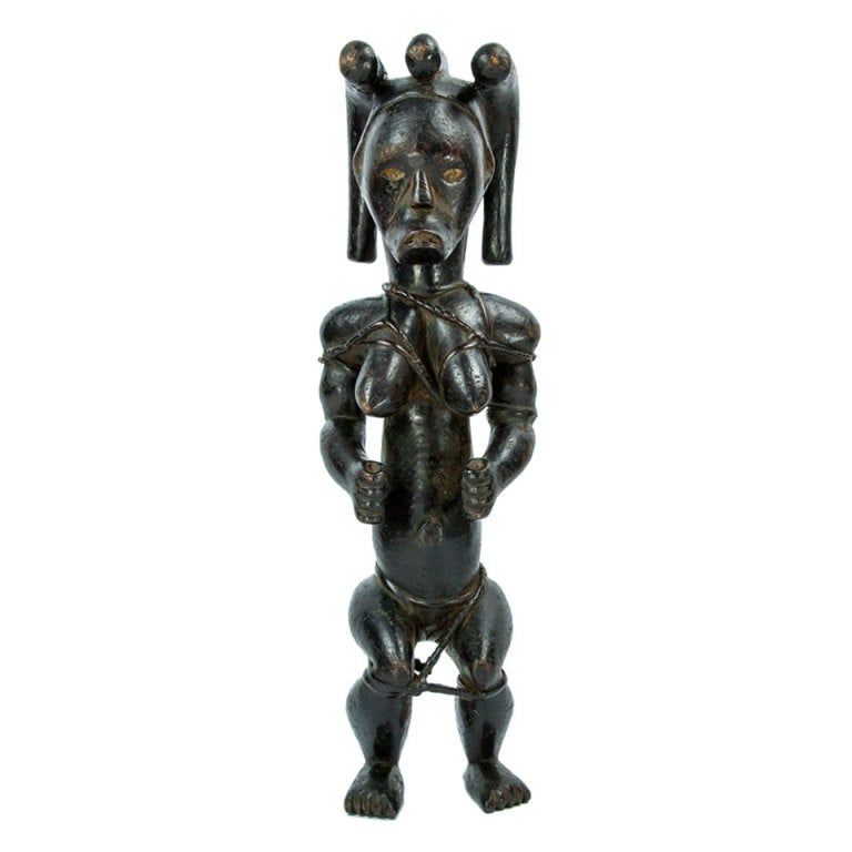 Antique African Gabon Fang Doll At 1stdibs