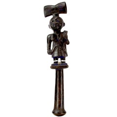 Antique  African Nigeria Yoruba Shango Tribal Staff