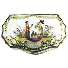 Antique Chinoiserie Porcelain Trinket Box France