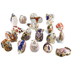 Royal Crown Derby Collection of 18 Porcelain Figurines England