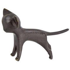 Wiener Werkstätte Hagenauer Art Deco Vienna Bronze Cat Sculpture