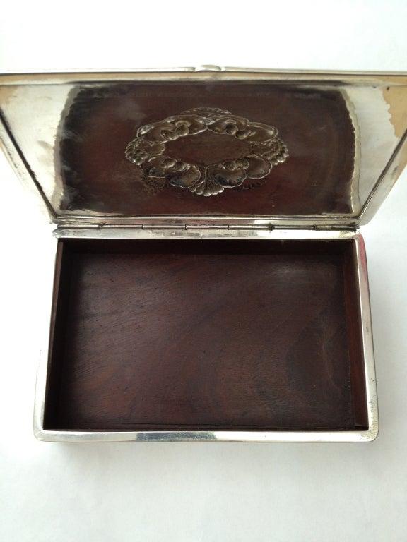 vintage georg jensen ornamental sterling silver box 507 at 1stdibs. Black Bedroom Furniture Sets. Home Design Ideas