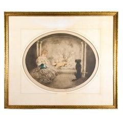 Estate Original Louis Icart Titled Cendrillon Hand Signed Etching