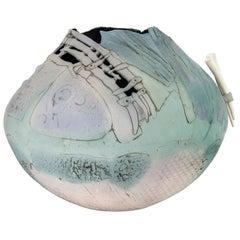 Extra Large Ceramic Clay Vessel Vase Bowl Signed Markiewicz
