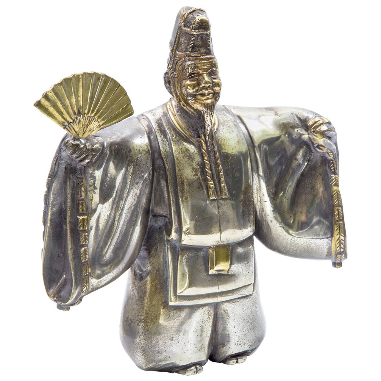 Japanese classical kabuki theater character silvered