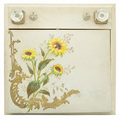Victorian Antique Traveling Writing Set Portfolio Hand Decorated Estate Find
