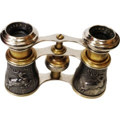 Antique Figural Binoculars Opera Glasses Paris
