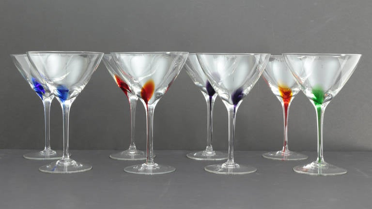 murano midcentury modern martini glasses 2