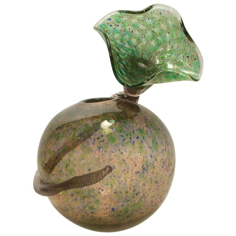 Rare Signed Handblown Art Glass Vase Richard Price For Sale