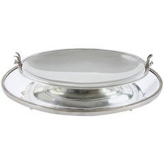 Edwardian Sterling Silver Mirrored Plateau and Bowl Center Piece