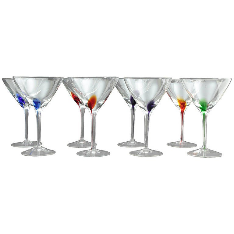 murano midcentury modern martini glasses 1