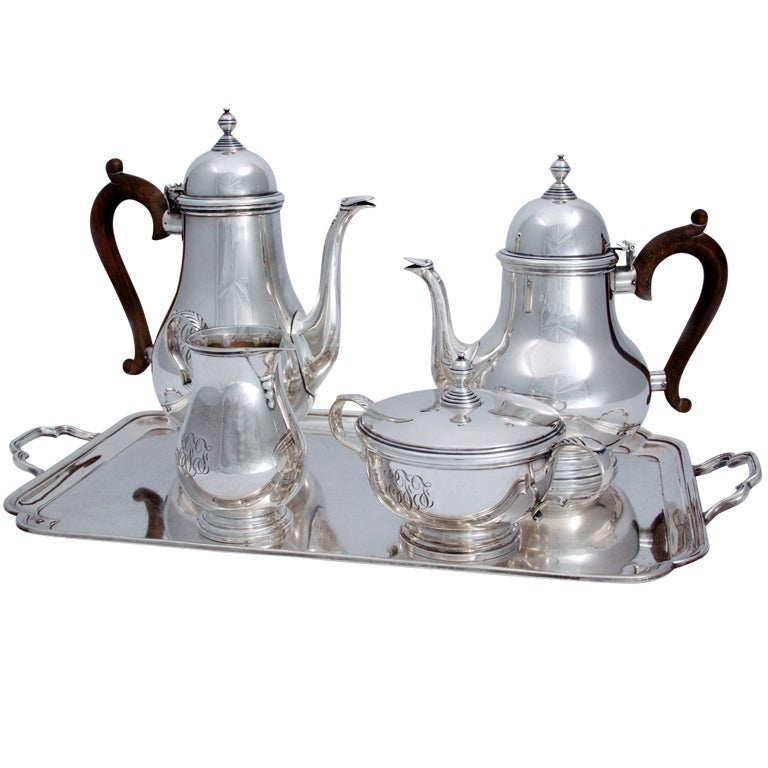how to store silver tea set