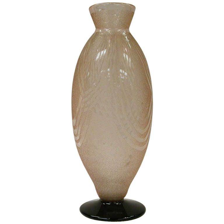 Outstanding Art Deco Schneider Art Glass Vase France