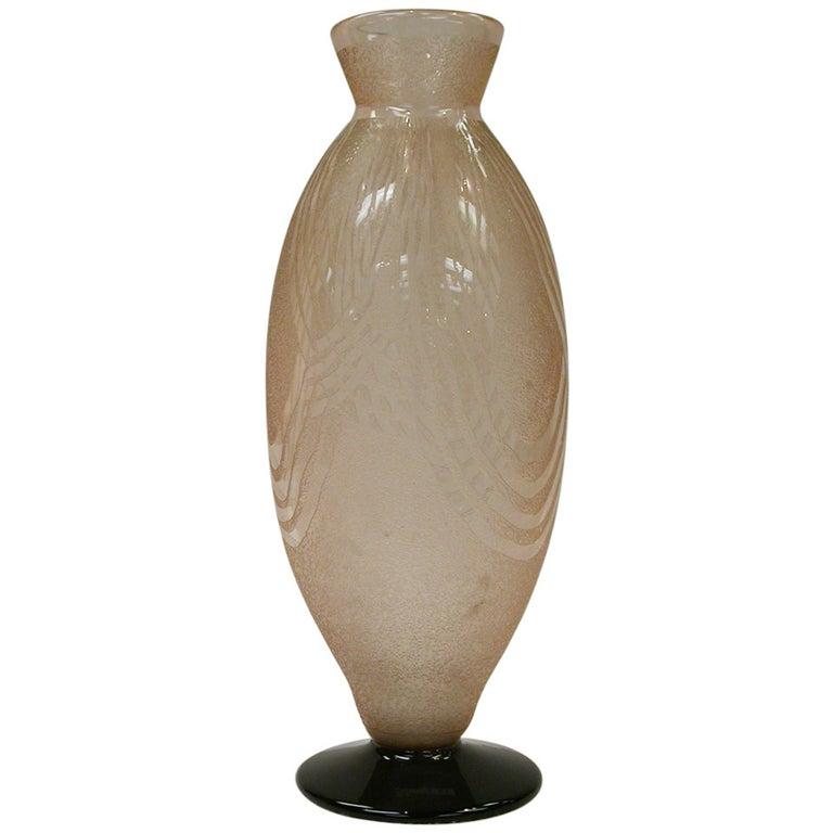 Outstanding Art Deco Schneider Art Glass Vase France Estate Find For Sale