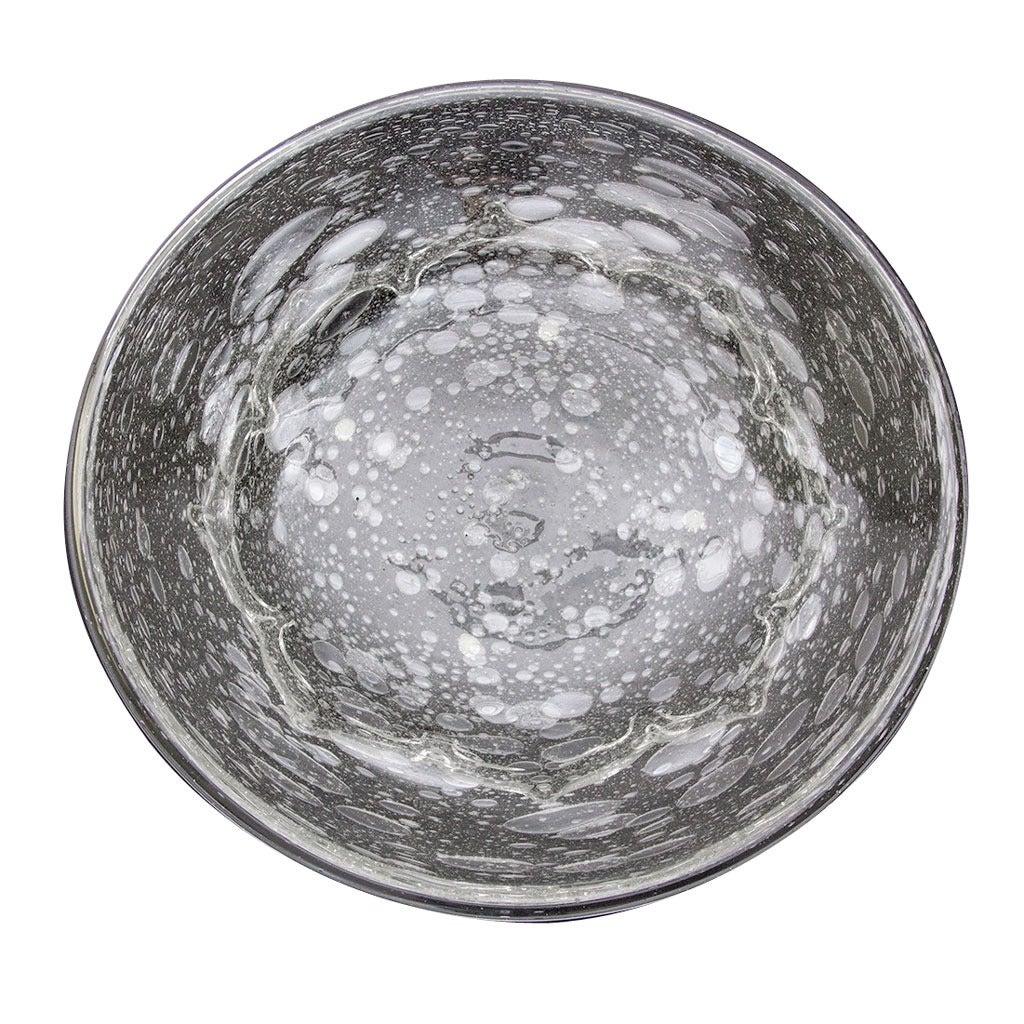 Signed Schneider Large Bubble Glass Centerpiece Bowl, circa 1950s Estate