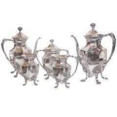 Five Piece Silver Plate Tea Set