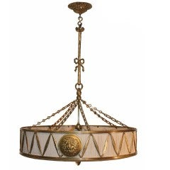Louis XVI Style Drum Chandelier