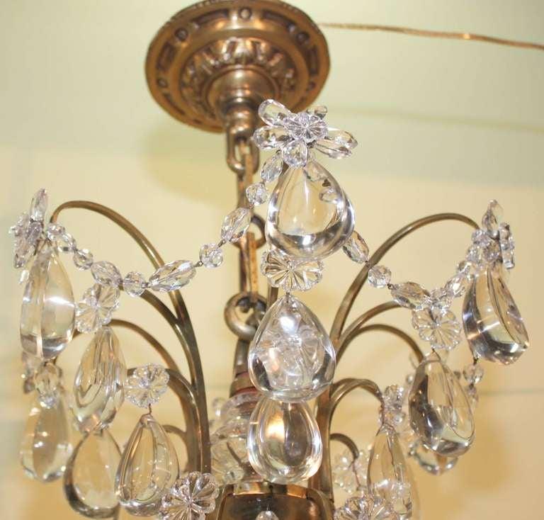 20th Century Baguès Louis XVI Style Twelve Light Crystal Chandelier For Sale