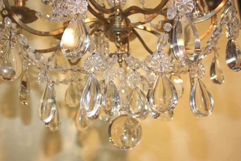 Baguès Louis XVI Style Twelve Light Crystal Chandelier For Sale 1
