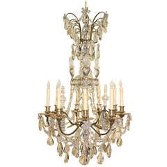 Baguès Louis XV Style Nine-Light Crystal Chandelier