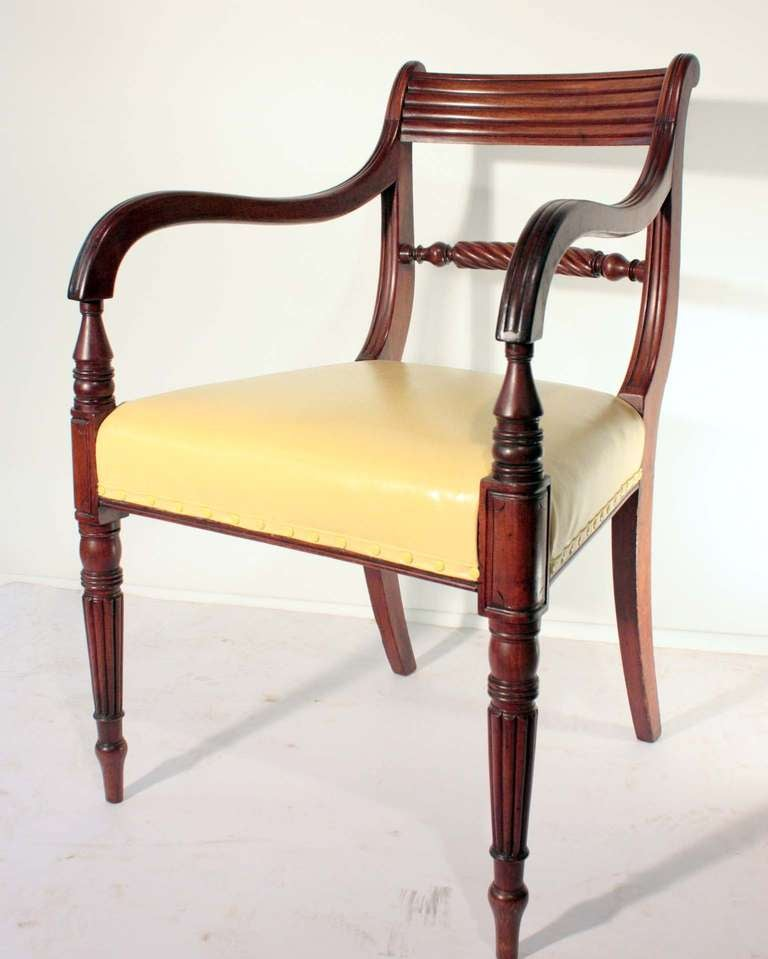 Set of eight regency mahogany dining chairs for sale at for Dining room sets 8 seats