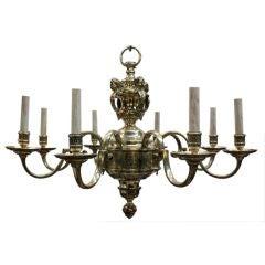 Mazarin Style Silvered Bronze Eight Arm Chandelier