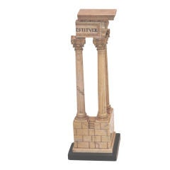 Siena Marble Model of the Ruins of the Temple of Vespasian